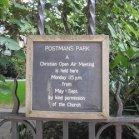 Postman's Park Sign