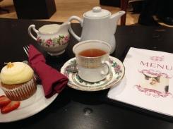 Amazing tea with gluten-free treats.