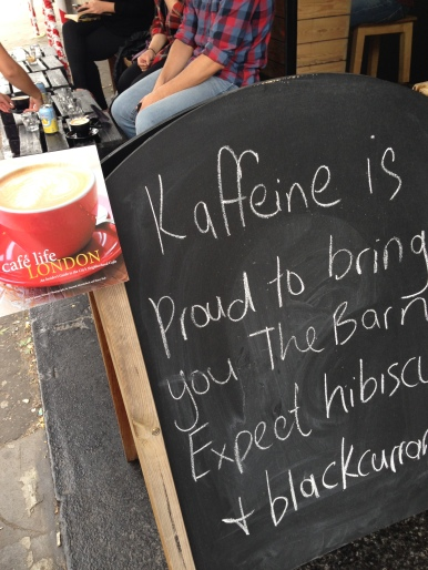 Kaffeine Coffee as featured in Cafe Life London.