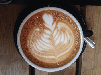 Pretty latte art.