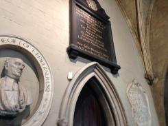 Jonathan Swift inside St. Patrick's Cathedral, Dublin