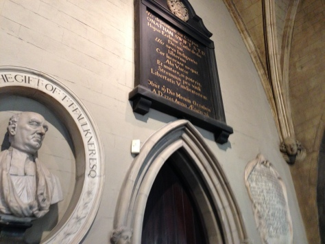 Jonathan Swift inside St. Patrick's Cathedral, Dublin
