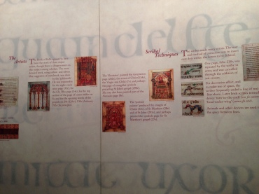 The exhibit for the Book of Kells inside Trinity College.