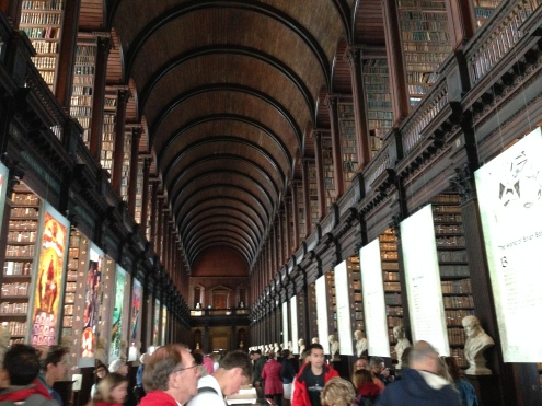 The massive Old Library at Trinity College.