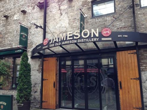 Outside the Jameson Distillery.