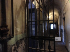 Prison cells and bars.