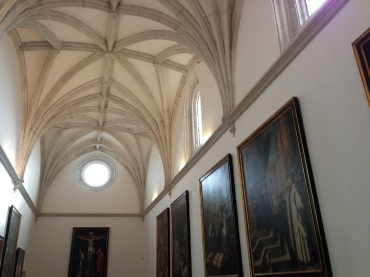 The interior art gallery of the Cartuja Monastery, Granada.