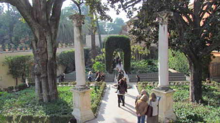 The magnificent gardens at the Real Alcazar