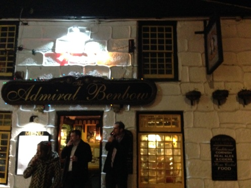 The outside of the Admiral Benbow, famous pub in Penzance.