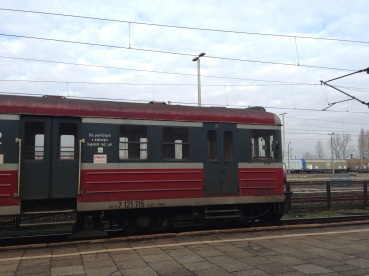 The train to Auschwitz from Krakow.