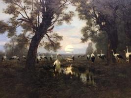 A Gathering of Storks by Wladyslaw Malecki