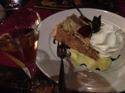 Hazelnut vodka with Jeff's walnut cake.