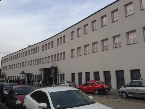 The exterior of Schindler's Factory, Krakow.