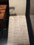 Handwritten notes found from the war.