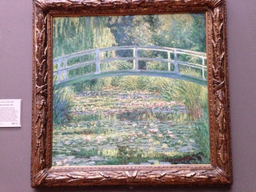 The Japanese Bridge by Claude Monet hosted in the National Gallery, London.