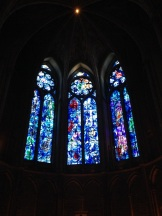Stained glass designed by Marc Chagall.