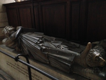 The tomb of Rollo, a Viking ruler than came to Rouen. One of Richard the Lionheart's relatives.