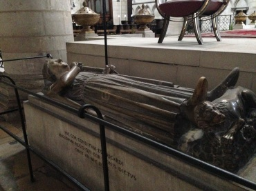 The tomb of Richard the Lionheart.
