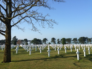 The beautiful cemetery dedicated to the Americans who lost their lives in Normandy.
