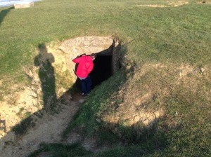 Jeff walking through the old bunkers.