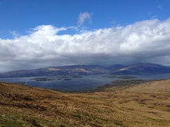 The beautiful Loch Lohmond at the base of Conic Hill.
