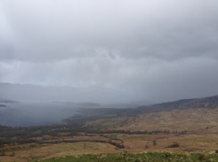 Taken seconds later with fast-moving hail coming our way.