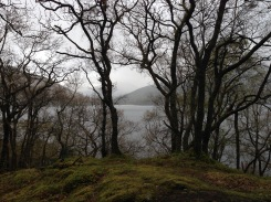 Loch Lomond to our left.