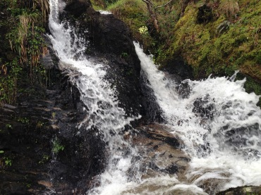 This massive waterfall signified our arrival at Inversnaid.