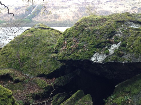 """Rob Roy's """"Cave,"""" or at least what we assume was his cave."""