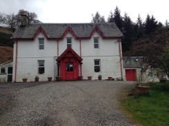The Inverardran Guest House; a sight for very sore eyes.