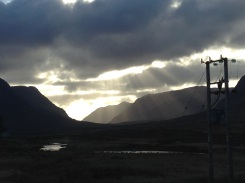 More gorgeous sunrays in Glencoe.
