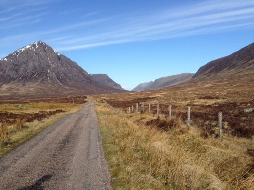 The flat roads from King's House Hotel to the Devil's Staircase.