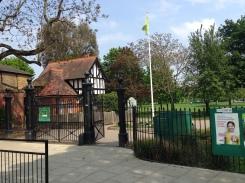 Lammas Park Gate today.