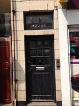 The front door to Blondin's former home.