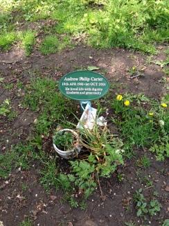 A memorial found in Lammas Park.