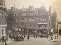 Circa 1920, the same intersection at Uxbridge Road.