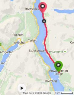 The 7.04mi from Rowardennan to Inversnaid.