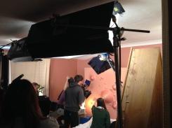 Filming It's Not Custard in Harwich.