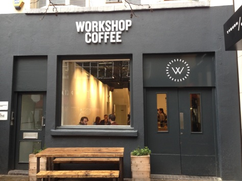 Workshop Coffee off Oxford Street.
