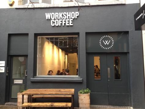 Workshop Coffee off Oxford Street.