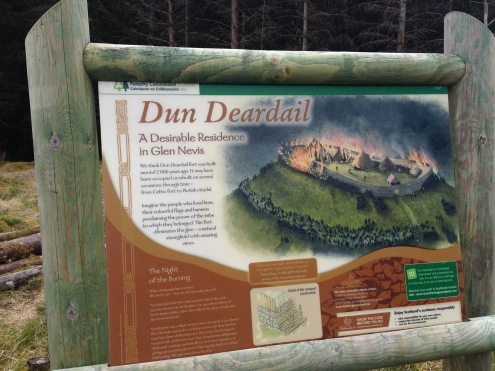 Down the path is the Dun Deardail Iron Age fort.