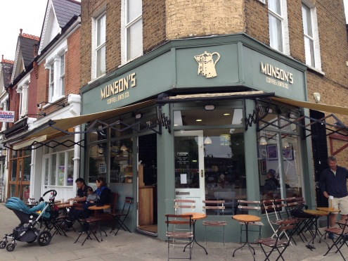 Munson's Coffee on St. Mary's Avenue in Ealing.