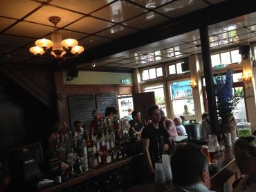 Inside the Royal Oak Pub.