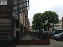 The well-known convent now sits opposite a slew of apartment buildings.