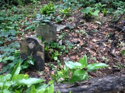 Headstones dedicated to the children of the east end.