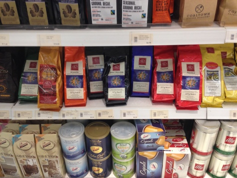 Edinburgh Flavored Coffee inside Selfridges.