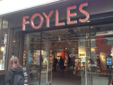 The famous Foyles on Charing Cross Road.