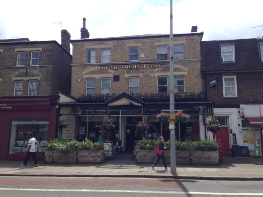 The Sir Michael Balcon pub on Uxbridge.