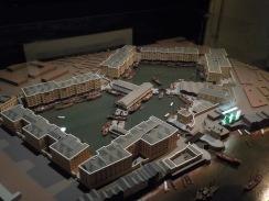 A model representation of St. Katherine Docks, 1830.