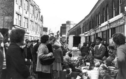 An undated photo of Columbia Road. Best guess 1970.